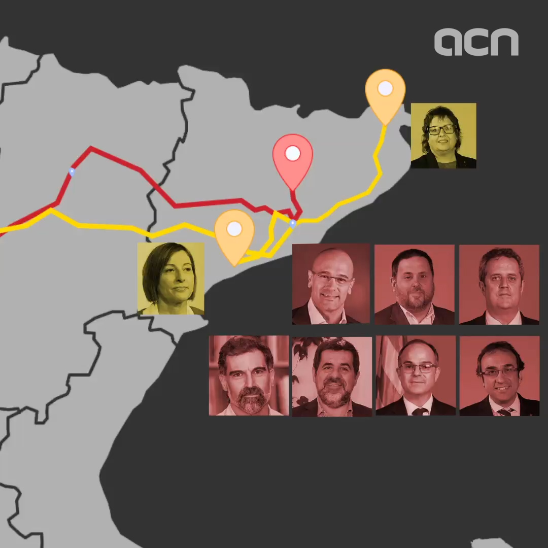 Jailed pro-independence leaders on their way to Catalan prisons